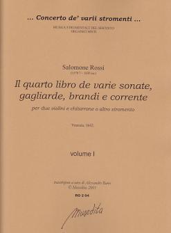 Rossi Salomone - Il Quarto Libro De Varie Sonate, Sinfonie, Gagliarde, Brandi E Correnti