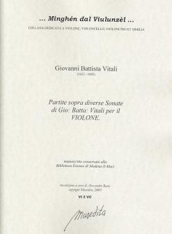 Vitali Giovanni Battista - Partite Sopra Diverse Sonate Par Il Violone