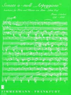 Schubert Franz - Sonate A-moll Arpeggione - Flute Et Piano