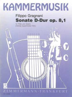 Gragnani Filippo - Sonate D-dur Op.8,1 - Flute Et Guitare