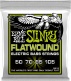 REGULAR SLINKY FLATWOUND ELECTRIC BASS STRINGS 50-105