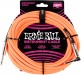 25' BRAIDED STRAIGHT / ANGLE INSTRUMENT CABLES NEON ORANGE