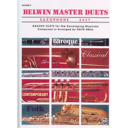 ALFRED PUBLISHING SNELL K. - BELWIN MASTER DUETS EASY VOL. 2 - SAXOPHONE
