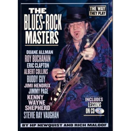 HAL LEONARD BLUES ROCK MASTERS THE WAY THEY PLAY + CD - GUITAR TAB