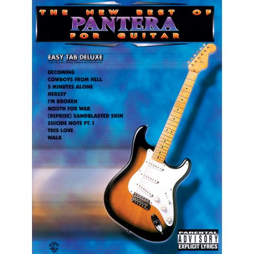ALFRED PUBLISHING PANTERA - NEW BEST OF - GUITAR TAB