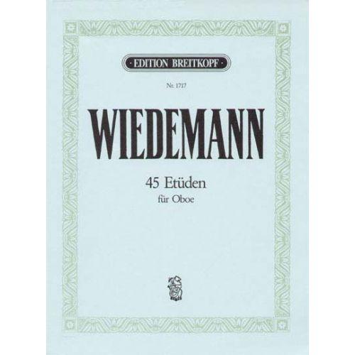 EDITION BREITKOPF WIEDEMANN LUDWIG - 45 ETUDEN FUR OBOE - OBOE