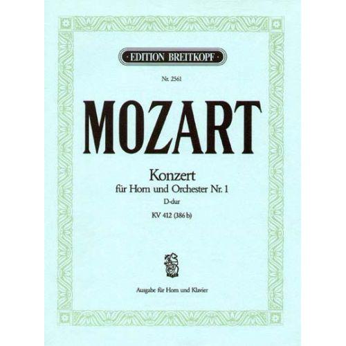 EDITION BREITKOPF MOZART WOLFGANG AMADEUS - HORNKONZERT NR. 1 D-DUR KV 412 - HORN, PIANO