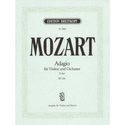 EDITION BREITKOPF MOZART WOLFGANG AMADEUS - ADAGIO E-DUR KV 261 - VIOLIN, PIANO