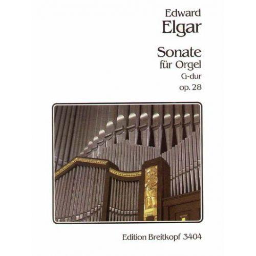 EDITION BREITKOPF ELGAR EDWARD - SONATE OP. 28 - ORGAN