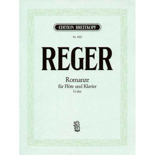 EDITION BREITKOPF REGER MAX - ROMANZE G-DUR - FLUTE, PIANO