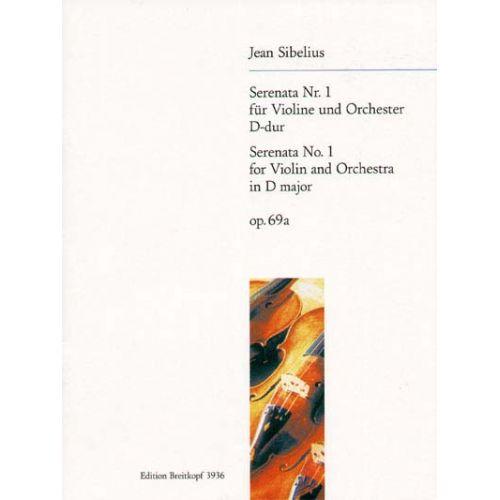 EDITION BREITKOPF SIBELIUS JEAN - SERENADE, NR. 1 OP. 69A - VIOLIN, ORCHESTRA