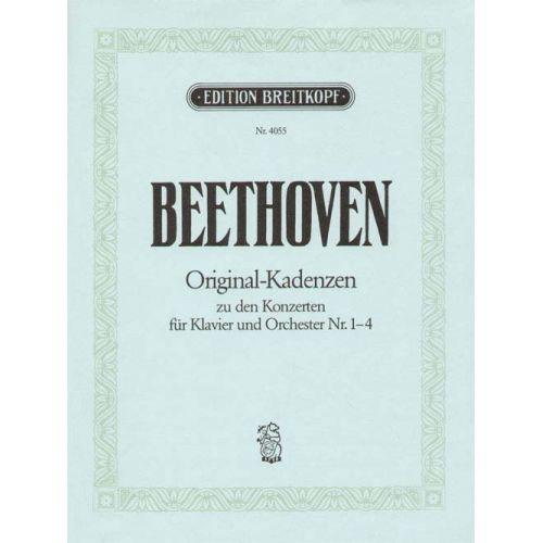 EDITION BREITKOPF BEETHOVEN LUDWIG VAN - 8 KADENZEN ZU DEN KONZERTEN NR.1-4 - PIANO