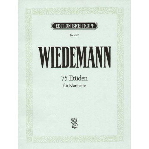 EDITION BREITKOPF WIEDEMANN LUDWIG - 75 ETUDEN - CLARINET