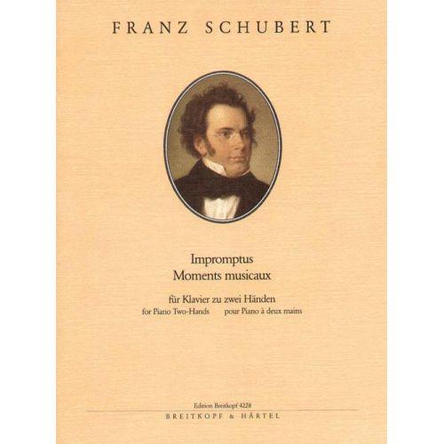 EDITION BREITKOPF SCHUBERT FRANZ - IMPROMPTUS, MOMENTS MUSICAUX - PIANO