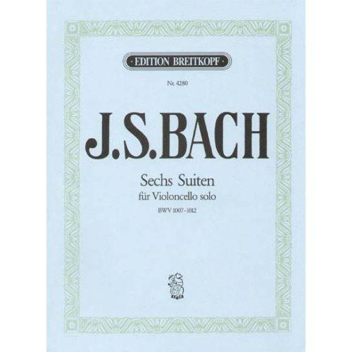 EDITION BREITKOPF BACH JOHANN SEBASTIAN - SECHS SUITEN BWV 1007-1012 - CELLO
