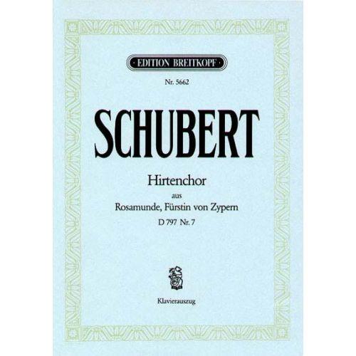 EDITION BREITKOPF SCHUBERT FRANZ - HIRTENCHOR D797/7 - PIANO