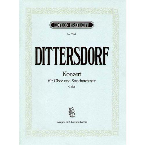 EDITION BREITKOPF DITTERSDORF KARL DITTERS VON - OBOENKONZERT G-DUR - OBOE, ORCHESTRA