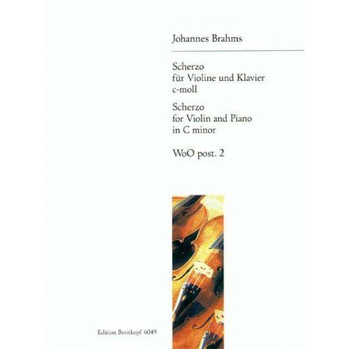 EDITION BREITKOPF BRAHMS JOHANNES - SONATENSATZ C-MOLL OP. POST. - VIOLIN, PIANO