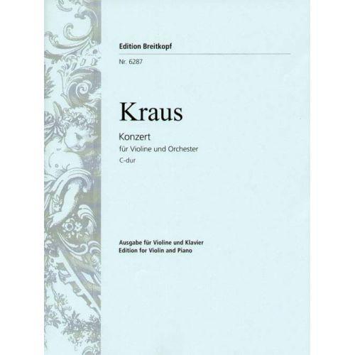 EDITION BREITKOPF KRAUS JOSEPH MARTIN - VIOLINKONZERT C-DUR - VIOLIN, PIANO