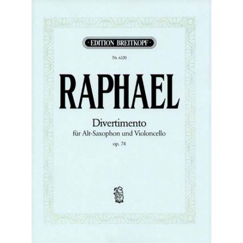 EDITION BREITKOPF RAPHAEL GUNTER - DIVERTIMENTO OP. 74 - ALTO SAXOPHONE, CELLO