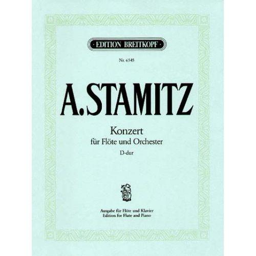 EDITION BREITKOPF STAMITZ ANTON - FLOTENKONZERT D-DUR - FLUTE, ORCHESTRA
