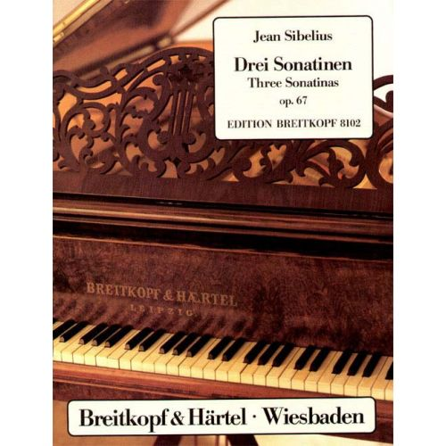 EDITION BREITKOPF SIBELIUS JEAN - DREI SONATINEN OP. 67 - PIANO