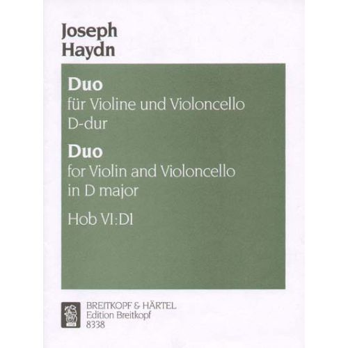 EDITION BREITKOPF HAYDN JOSEPH - DUO VI: D 1 - VIOLIN, CELLO