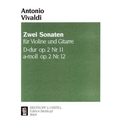 EDITION BREITKOPF VIVALDI ANTONIO - SONATEN D-DUR/A-MOLL AUS OP.2 - VIOLIN, GUITAR