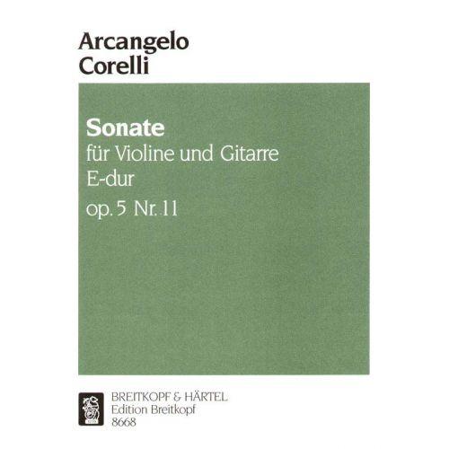 EDITION BREITKOPF CORELLI ARCANGELO - SONATE E-DUR OP. 5/11 - VIOLIN, GUITAR