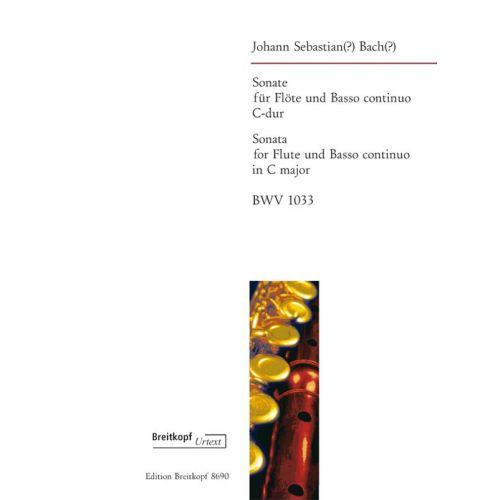 EDITION BREITKOPF BACH JOHANN SEBASTIAN - SONATE C-DUR BWV 1033 - FLUTE, BASSO CONTINUO