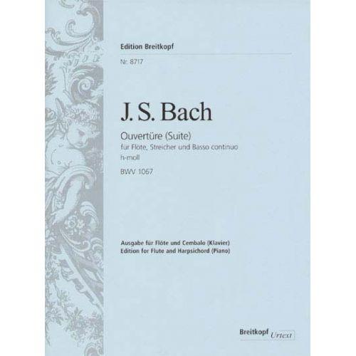 EDITION BREITKOPF BACH JOHANN SEBASTIAN - SUITE H-MOLL BWV 1067 - FLUTE, HARPSICHORD