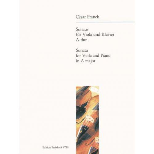 EDITION BREITKOPF FRANCK CESAR - SONATE A-DUR - VIOLA, PIANO
