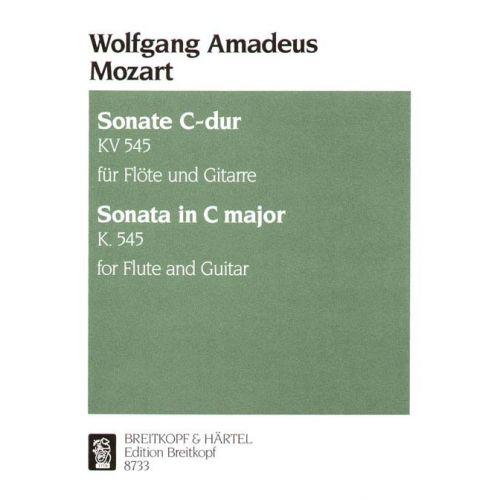 EDITION BREITKOPF MOZART WOLFGANG AMADEUS - SONATA C-DUR KV 545 - FLUTE, GUITAR