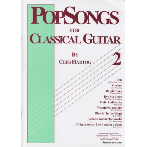 ALSBACH - EDUCA HARTOG C. - POP SONGS FOR CLASSICAL GUITAR VOL.2