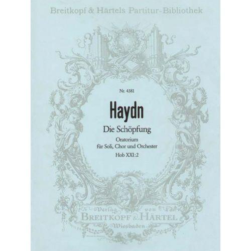 EDITION BREITKOPF HAYDN JOSEPH - DIE SCHOPFUNG HOB XXI: 2 - SOLI, MIXED CHOIR, ORCHESTRA