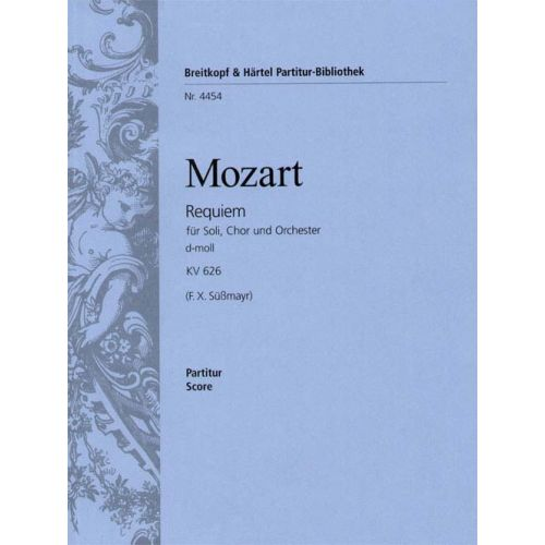 EDITION BREITKOPF MOZART WOLFGANG AMADEUS - REQUIEM D-MOLL KV 626 - SOLI, MIXED CHOIR, ORCHESTRA