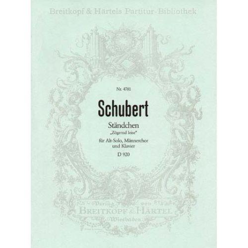 EDITION BREITKOPF SCHUBERT FRANZ - STANDCHEN