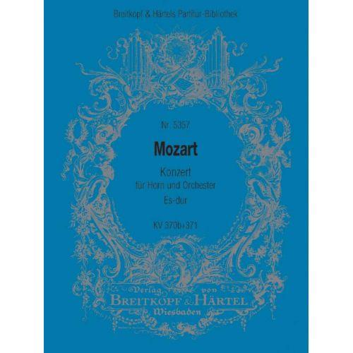 EDITION BREITKOPF MOZART WOLFGANG AMADEUS - HORNKONZERT ES-DUR KV 370B/371 - HORN, ORCHESTRA