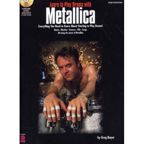 HAL LEONARD METALLICA - LEARN TO PLAY DRUMS + CD