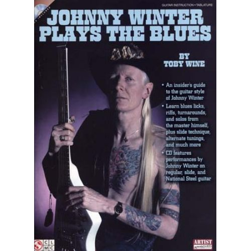 CHERRY LANE WINTER JOHNNY - PLAYS THE BLUES + CD - GUITARE