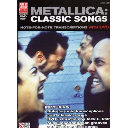 CHERRY LANE METALLICA - CLASSIC SONGS + DVD - DRUM
