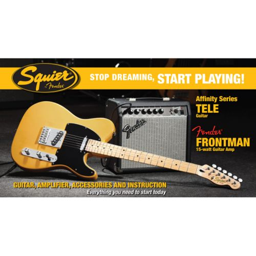 SQUIER BY FENDER TELECASTER + AMPLI FRONTMAN 15G BUTTERSCOTCH BLONDE AFFINITY