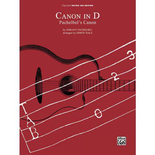ALFRED PUBLISHING PACHELBEL JOHANN - CANON IN D - GUITAR TAB