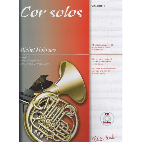 ROBERT MARTIN MOLINARO - COR SOLOS VOL.1 + CD - COR, PIANO