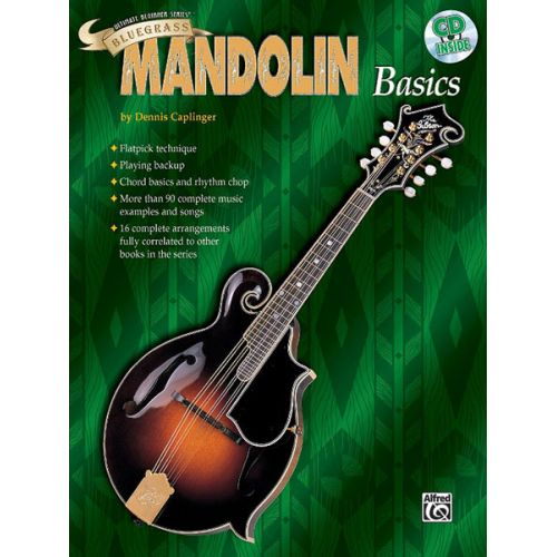 ALFRED PUBLISHING CAPLINGER DENIS - BLUEGRASS MANDOLIN BASICS + CD - MANDOLIN