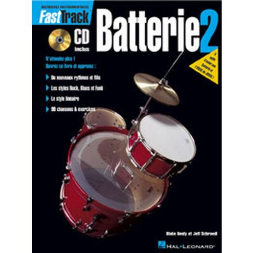 HAL LEONARD FAST TRACK BATTERIE VOL.2 + CD
