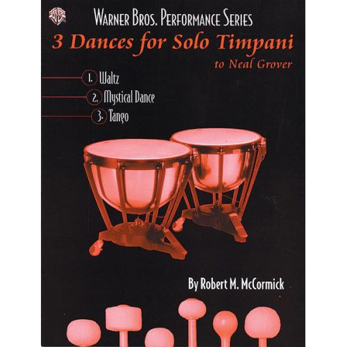 ALFRED PUBLISHING 3 DANCES SOLO TIMPANI - PERCUSSION ENSEMBLE