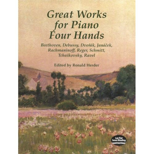 DOVER GREAT WORKS FOR PIANO FOUR HANDS - PIANO DUET