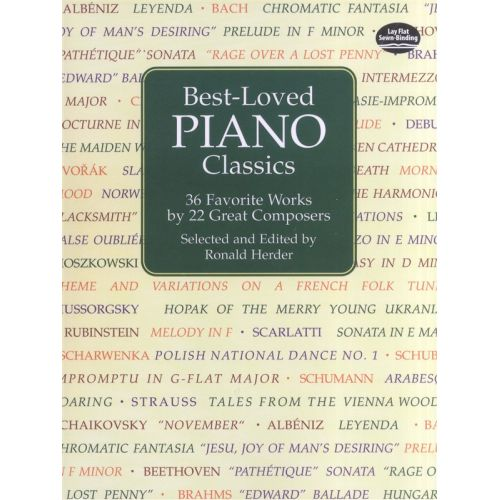 DOVER BEST-LOVED PIANO CLASSICS 36 FAVORITE WORKS 22 GREAT COMPOSERS - PIANO SOLO