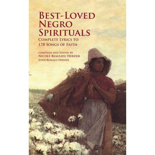 DOVER HERDER BEST-LOVED NEGRO SPIRITUALS COMPLETE LYRICS 178 SONGS - VOICE